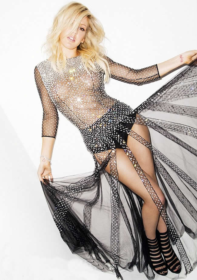 Ellie-Goulding-Poses-Racy-Sheer-Dress