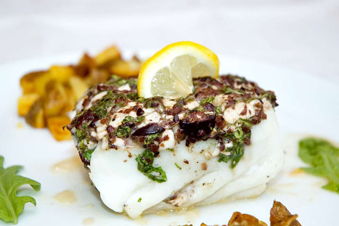 halibut_olive_arugula_cottage_cheese