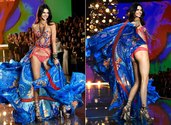KENDALL JENNER MAKES STUNNING VICTORIA'S SECRET DEBUT